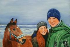 Paar mit Pferd