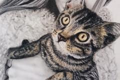 Portrait mit Katze